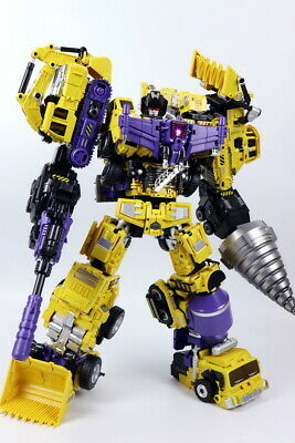 NEW Transformed Daban Model Yellow 6 in one Oversized Devastator toys In Stock