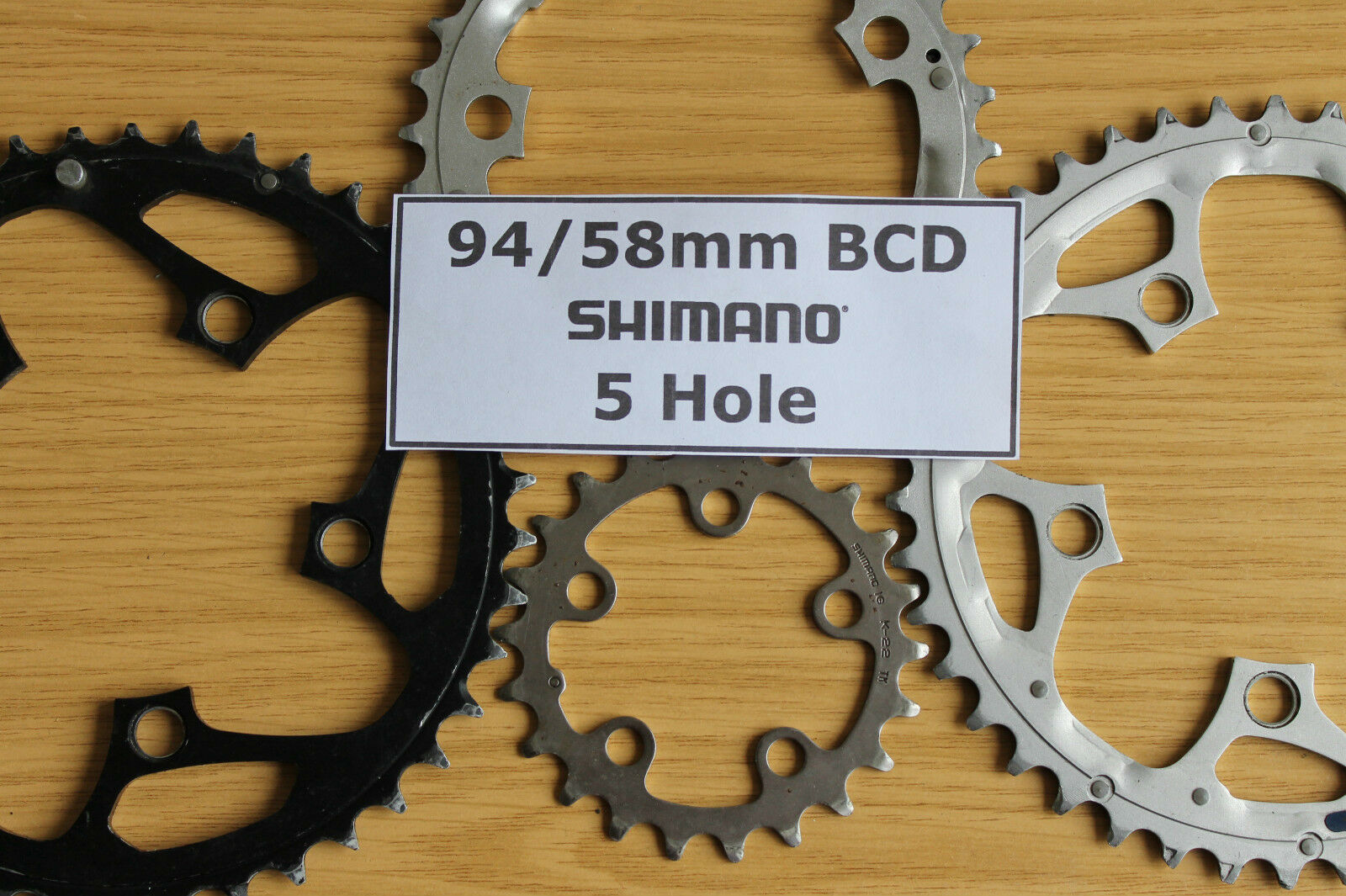 Shimano Chainrings 5 Hole 58 94 mm BCD PCD Chain Rings Chainring Ring Retro