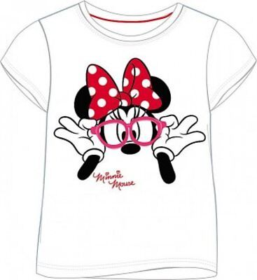 Disney Minnie Mouse T-Shirt White Girls Kids 2-10 Years