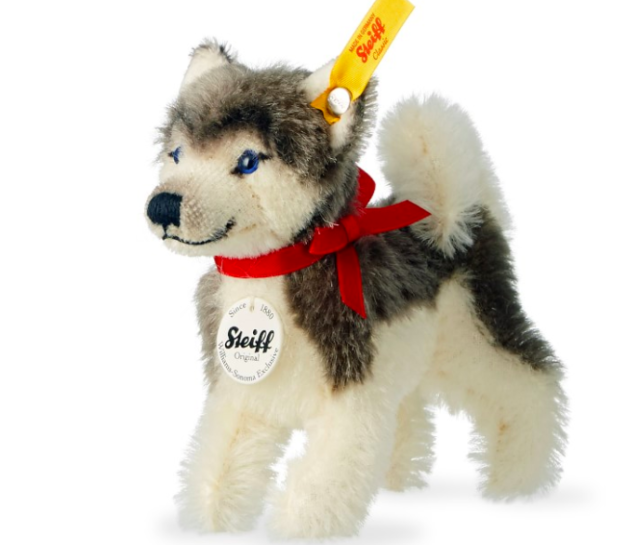STEIFF NWOT Husky- Classic Collectible Mohair - 11cm- Williams Sonoma Exclusive
