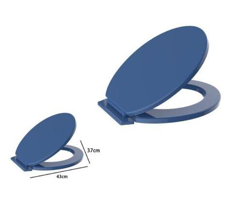 Sedile Coprivaso Wc Water Copriwater Bagno In Pvc Universale Blu Scuro dfh