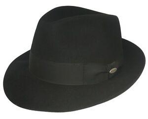 Incl Fedora Elegante Nero Cappello Città Feltro Maclean Nuovo Scatola Bogart anFxn8