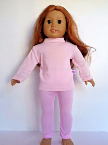 """Pink 3pc Legging Outfit Fits 18/"""" American Girl Dolls Clothes"""