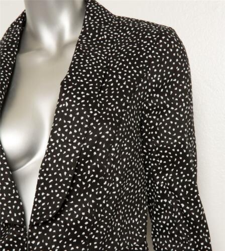 White Jacket 40 Fitted 8 Modern Black Womens Nina New Speckled Blazer Ricci qwTpF8xt