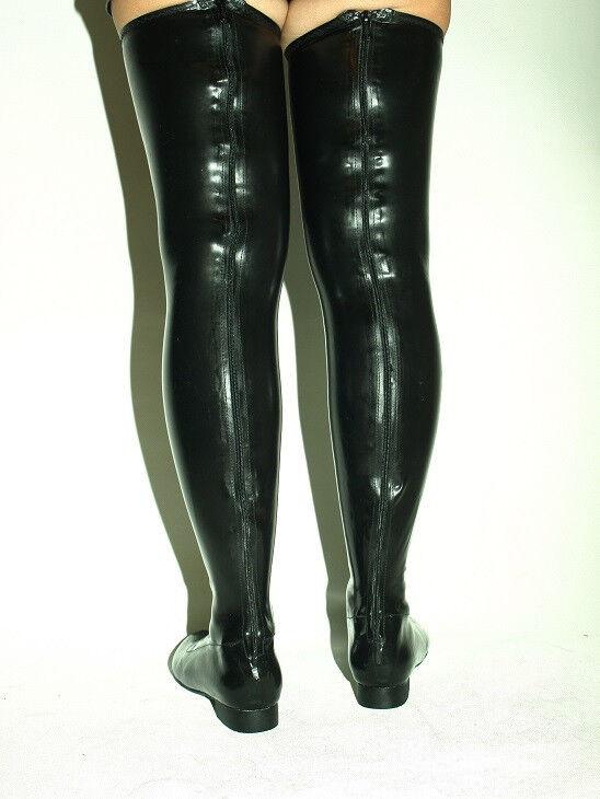 FETISH LATEX Stiefel Größe 6-16 HEEL-0'- PRODUCER BOLINGIER POLAND FS1192