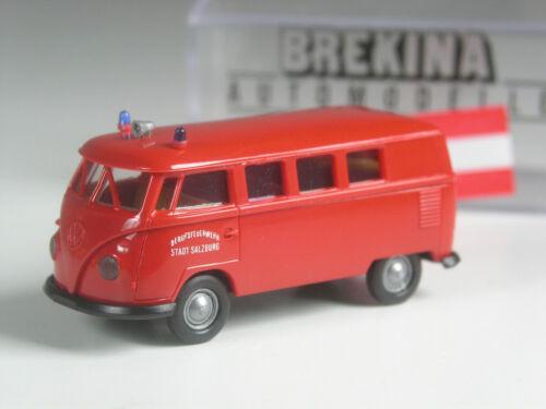 Brekina Österreich Sondermodell VW T1 Feuerwehr Salzburg in OVP selten