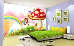 3D Girl Mushroom 88 Wall Paper Murals Wall Print Wall Wallpaper Mural AU Kyra