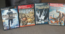 Call Of Duty 3 and World at War Golden Eye God of War PS2 4 Game Lot *Complete*