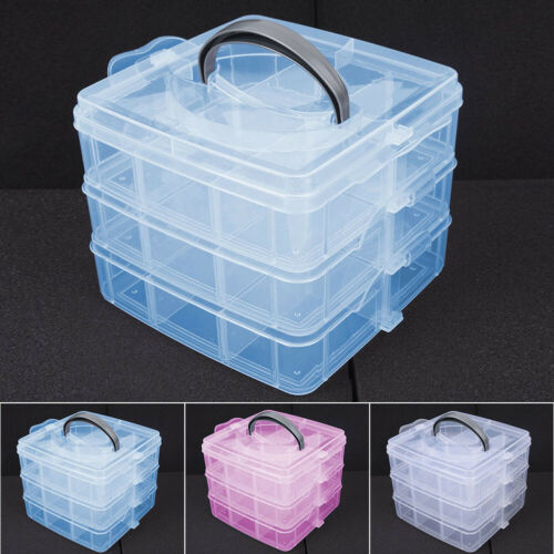 New Clear Plastic Jewelry Bead Storage Boxes Container Organizer Case Crafts CA
