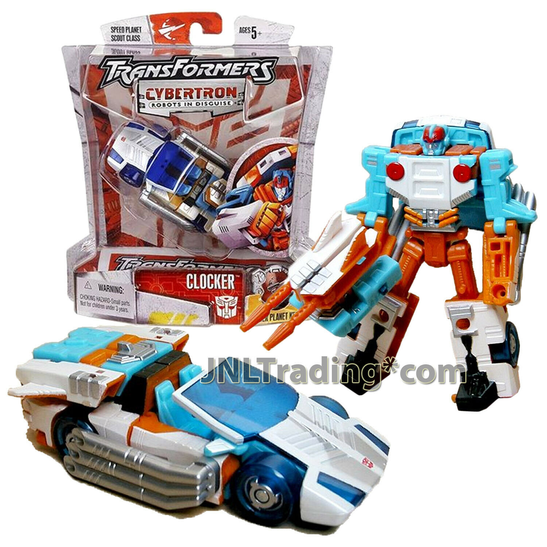 Year 2005 Transformers Cybertron Scout classe 4 Ttutti cifra Autobot CLOCKER