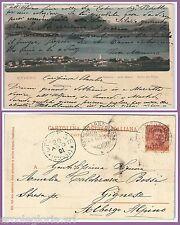 55702 - CARTOLINA d'Epoca - LAGO MAGGIORE: Baveno - ANNULLO NATANTE  1901