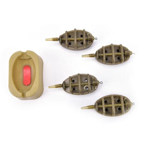 Inline method carp fishing feeder 4 feeders 15//20//25//35g 30//40//50//60g mould YH