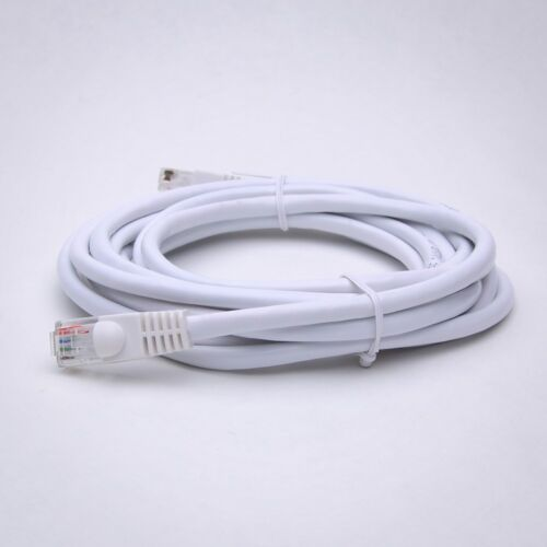 10FT CAT5 Cable Ethernet Lan Network RJ45 Patch Cord Internet White NEW CAT5e