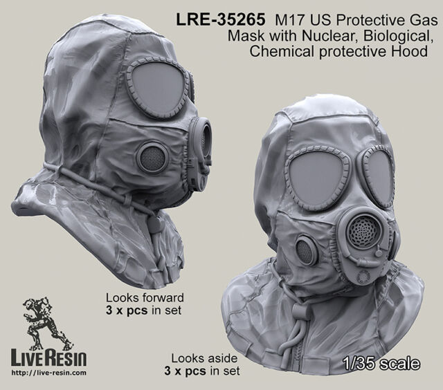 Live Resin 1/35 LRE-35265 M17 US Protective GasMask (2)