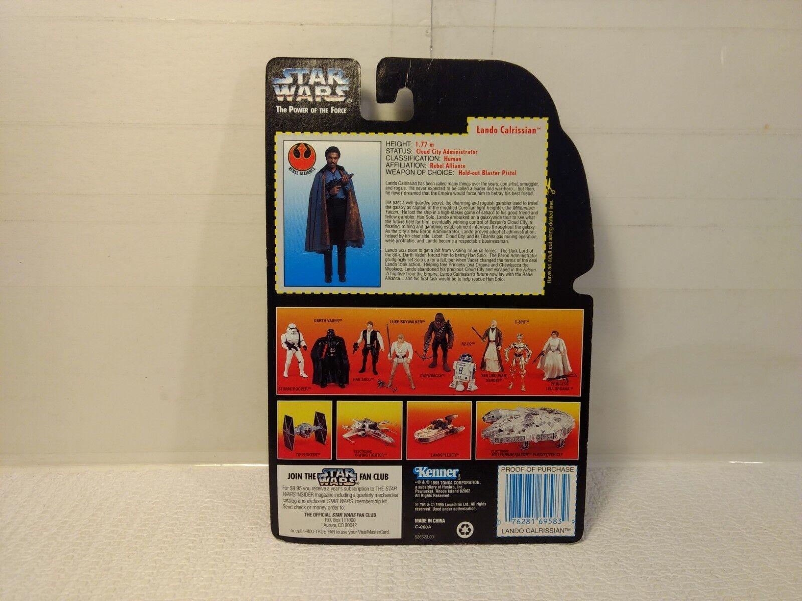 Kenner Pouvoir de la Force Lando Lando Force Calrissian Figurine Articulée 1995 t2265 df988d