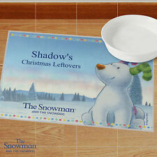 Personalised The Snowman and the Snowdog Christmas Pet Placemat - Dog Cat Gift