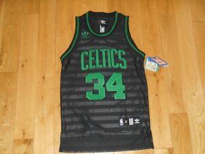 competitive price 7982f 31de6 Details about New adidas Originals PAUL PIERCE Black BOSTON CELTICS Youth  NBA Team JERSEY Sm 8