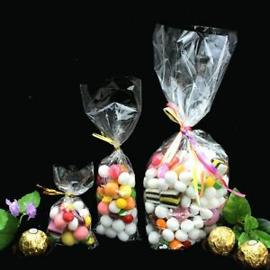 CLEAR-Cellophane-Bags-for-party-sweet-candy-gift-toy-cake-pops-CHOICES-11-Sizes