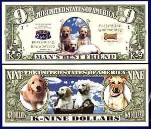 RESCUE Dollar Bill Y Collectible-Fake-Money 2-DOG SHELTER Novelty