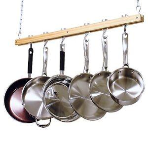pot rack hanging pan holder kitchen organizer storage cookware