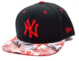 d4b9c495f50 New York NY Yankees New Era 9Fifty MLB Baseball Floral Visor ...