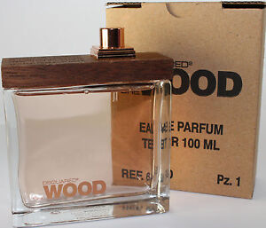 628c8594e6c SHE WOOD BY DSQUARED 3.4 3.3 OZ EDP SPRAY TESTER FOR WOMEN NEW IN ...