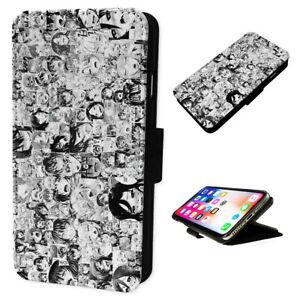 Dettagli su Ahegao faccia ANIME Collage-FLIP Cover Custodia Telefono Portafoglio si adatta Iphone & Samsung- mostra il titolo originale