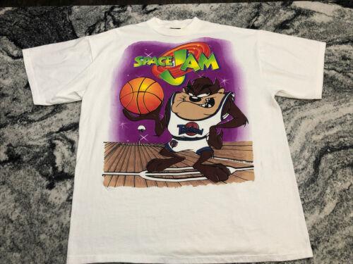 VTG 1996 Space Jam FREEZE Taz Mens T Shirt Sz XL