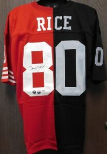 2ac47faf6 Jerry Rice Signed Half   Half San Francisco 49ers   Oakland Raiders ...