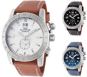 Glycine-Men-039-s-Airman-42-GMT-42mm-Quartz-Choice-of-Color
