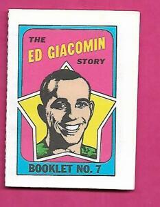 1971-72-RANGERS-ED-GIACOMIN-BOOKLET-INSERT-INV-C7244
