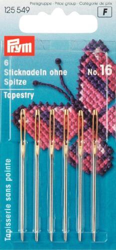 Prym Stick agujas sin//con encaje con goldöhr muchos tamaños stopfnadel wollnadel