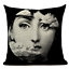 thumbnail 4 - Fornasetti Style Pillow Case Cover Sofa Home Textile Vintage Cushion Linen Decor