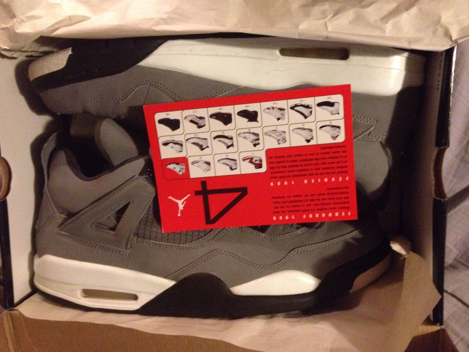USED AND GOOD CONDITION 2004 NIKE Air Jordan 4 IV Cool Grey sz 13 WOW