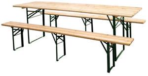 Tavolo Con Panche Da Birreria.Tavolo Con Panche Richiudibile In Legno Acciaio 220x70 Set Birreria