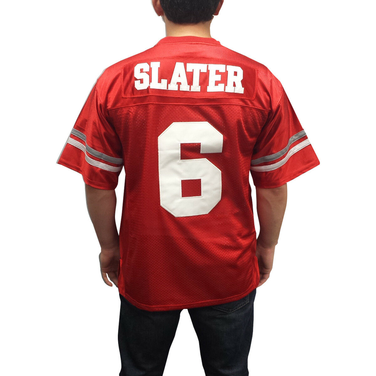 A.C. Slater  6 Bayside Footbtutti Jersey Saved By The Bell AC Costume Uniform TV