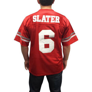 ec77d8f89732 A.C. Slater  6 Bayside Football Jersey Saved By The Bell AC Costume ...