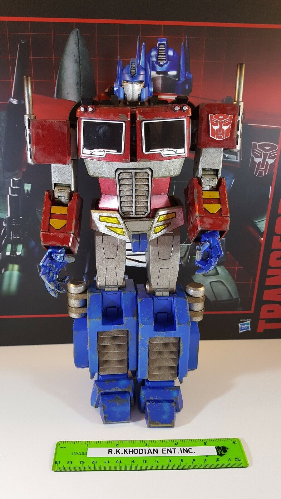 Sideshow Hot Toys 30 cm Optimus Prime Starscream Version transformateur Figure TF001