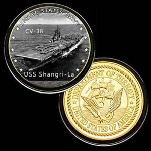 U-S-United-States-Navy-USS-Shangri-La-CV-38-Gold-Plated-Challenge-Coin