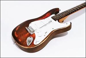 Miniature Mini Custom Made Vintage Style Classic Guitar Aged Used Profile