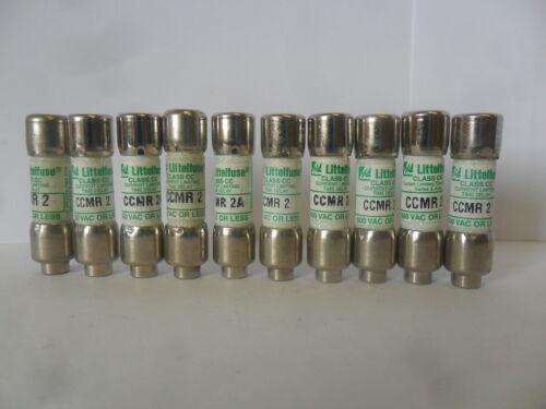Nice Lot Littelfuse CCMR 2 Amp Fuses LP-CC-2 Class CC 600 Volts