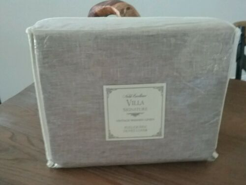 NEW Noble Excellence Villa Signature Vintage Washed Linen FullQueen Duvet Cover