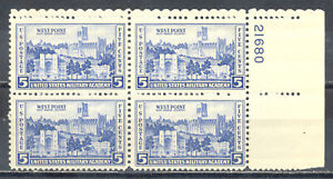 US-Stamp-L218-Scott-789-Mint-NH-OG-Nice-Plate-Block