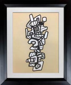 Jean-Dubuffet-LITHOGRAPH-Vacuum-Forms-1973-Limited-EDITION-w-Archival-Frame