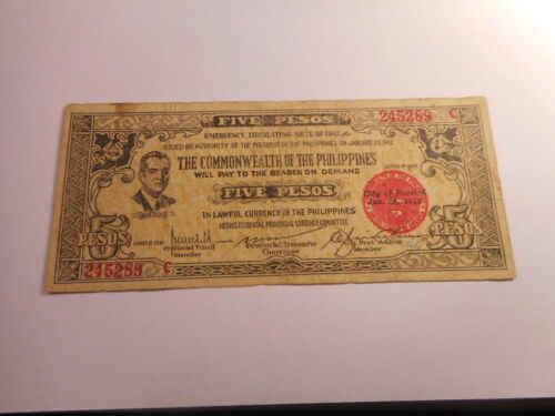 Philippines Emergency Currency Negros Occidental Five Pesos - Nice - # 245289