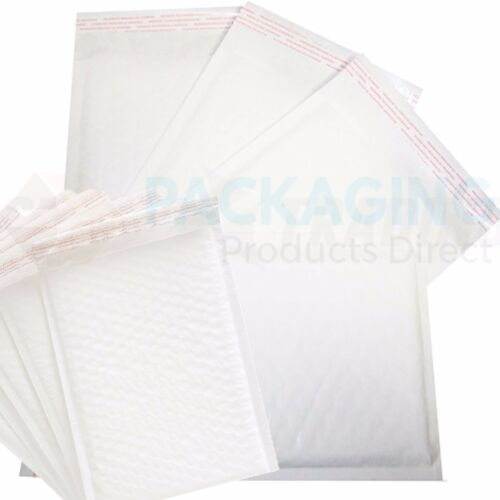 300 White Padded Bubble Envelopes 170x245mm PP4 A5