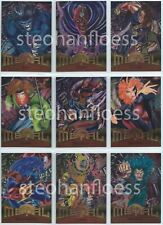 1995 Fleer Marvel Metal Avengers X-Men Base Card You Pick, Finish Your Set 1-138