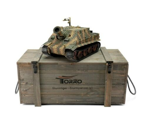 116 Torro German Sturmtiger RC Tank 2.4GHz Infrared Metal Edition PRO