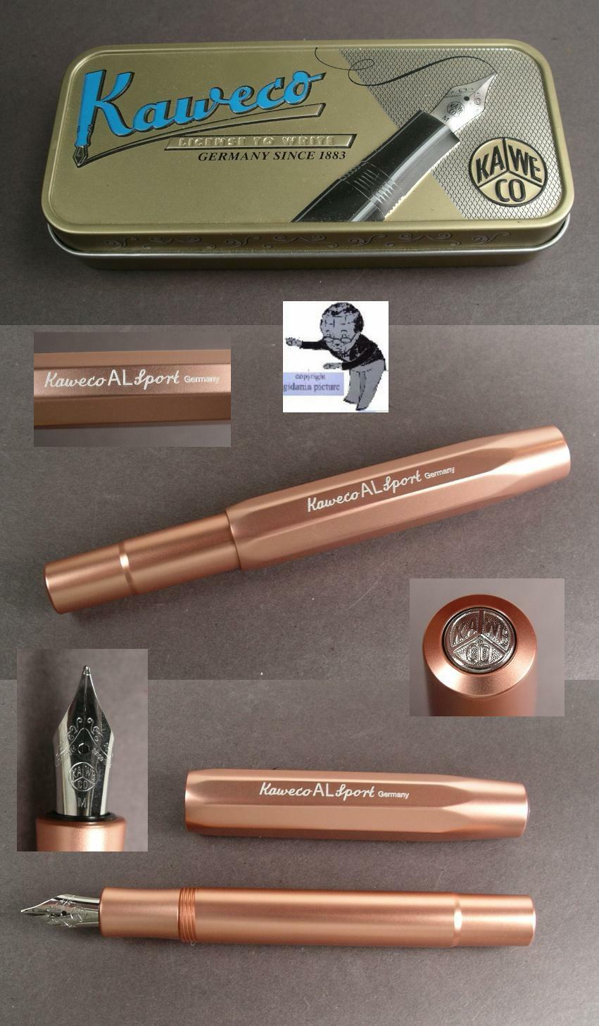 Kaweco Al Sports Fountain Pen Holder Made of Aluminium in pink gold New