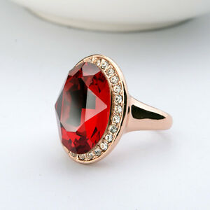 LARGE-18K-GOLD-PLATED-RUBY-RED-GENUINE-CUBIC-ZIRCONIA-AND-AUSTRIAN-CRYSTAL-RING